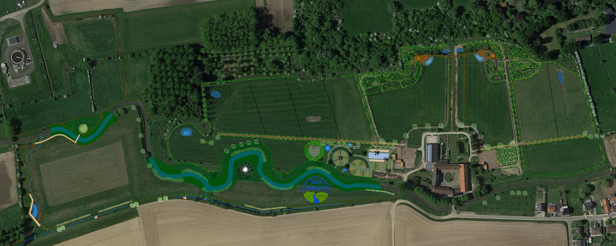 Kasteelhoeve Wange aanleg rivier project nieuws natuur