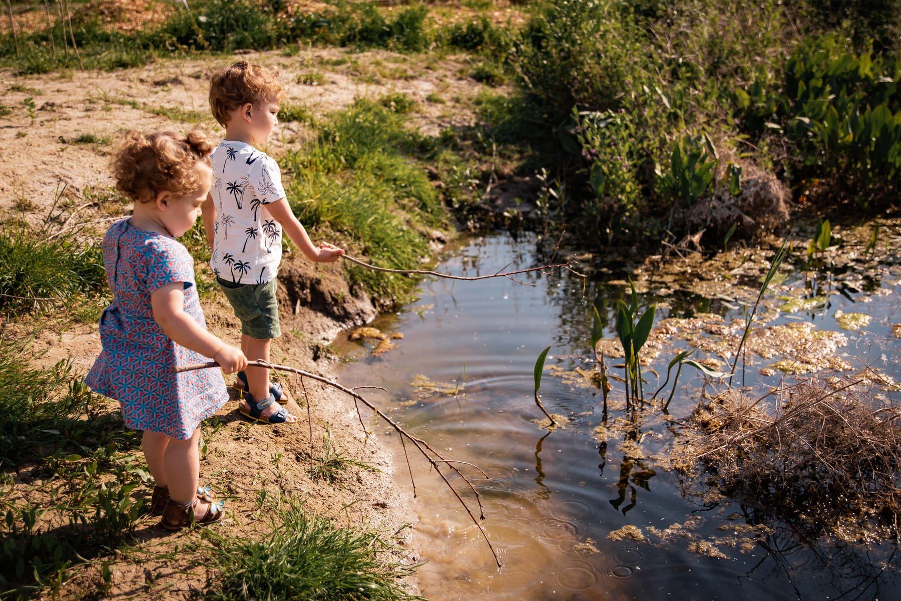 Kasteelhoeve Wange activiteiten rond domein familie & vrienden kinderen natuur rivier water Landen