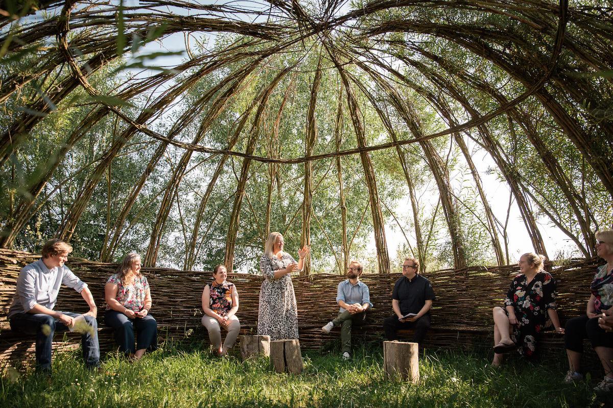 Kasteelhoeve Wange vergaderzaal meeting outdoor yurd bedrijven & organisaties Landen