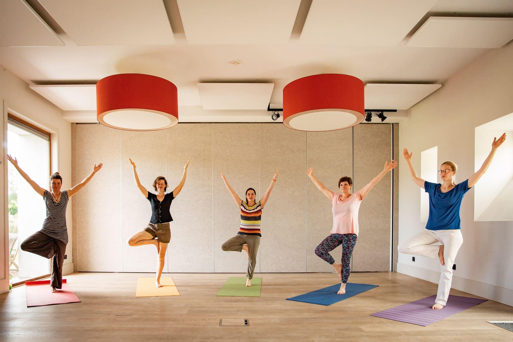 Kasteelhoeve Wange verenigen vrij tijdsgroepen teambuilding yoga Landen workshops activiteiten