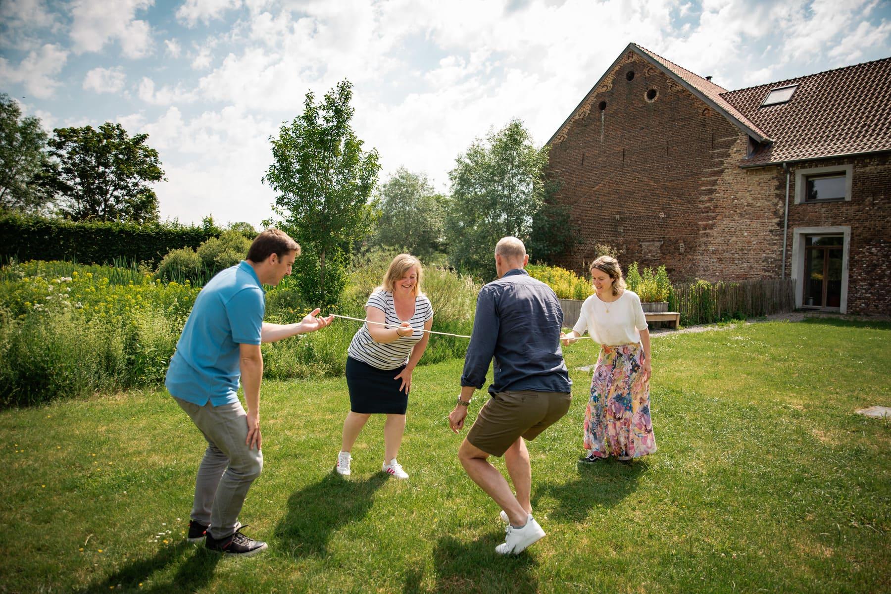 Kasteelhoeve Wange verenigingen vrij tijdsgroepen teambuilding kubben domein b&b hotel familie & vrienden Landen natuur spelletjes