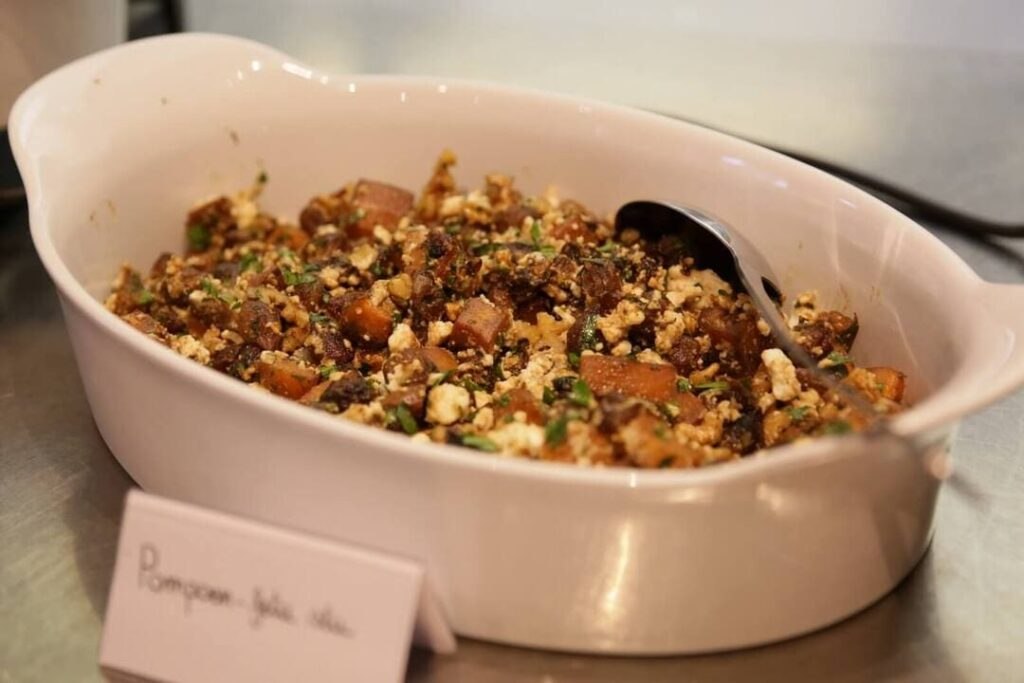 Kasteelhoeve Wange recepten pompoen fetasalade faciliteiten maaltijd pure keuken bio