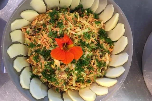 Kasteelhoeve Wange recepten koolsla faciliteiten maaltijd pure keuken bio